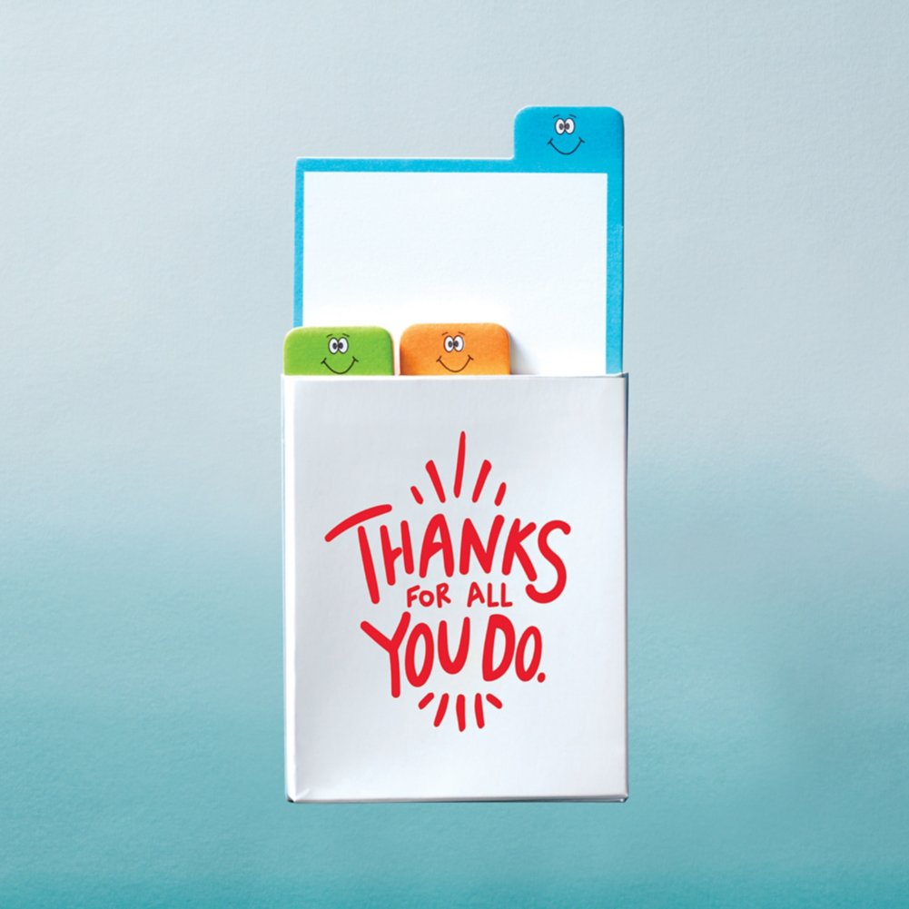 View larger image of Value Emoti Notepad Set - Thanks For All You Do