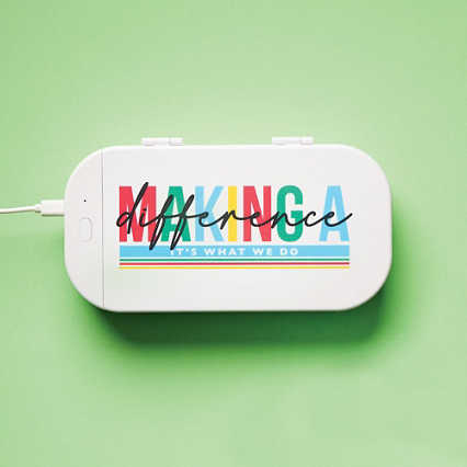 Keepin' it Clean Phone Sanitizer + Charger - Making A Difference