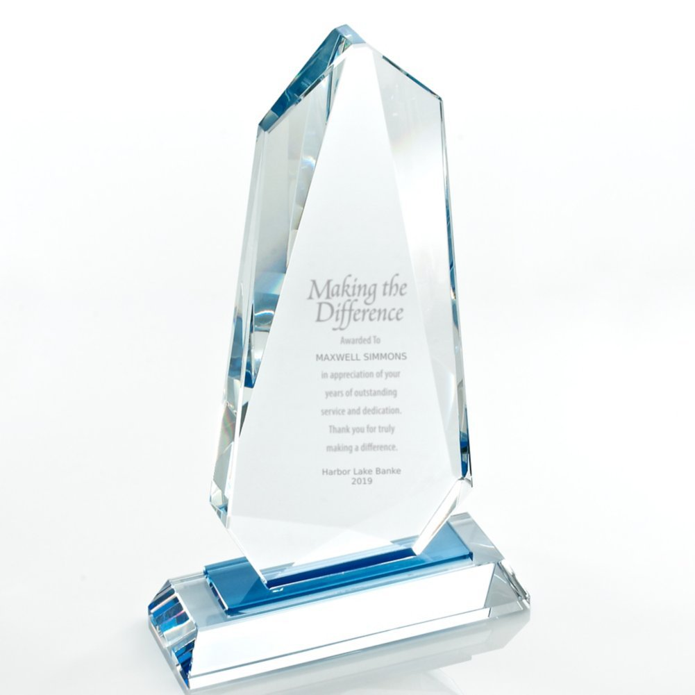 View larger image of Sky Blue Accent Crystal Trophy - Tower
