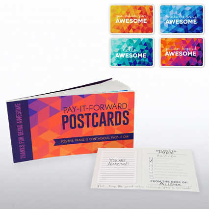 Pay-it-Forward Postcards - Thanks for Being Awesome