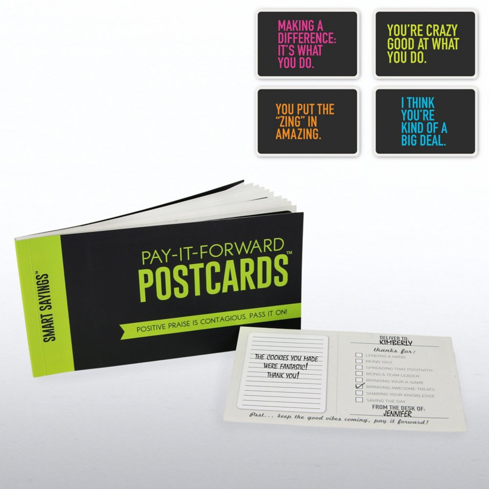 Pay-it-Forward Postcards - Smart Sayings