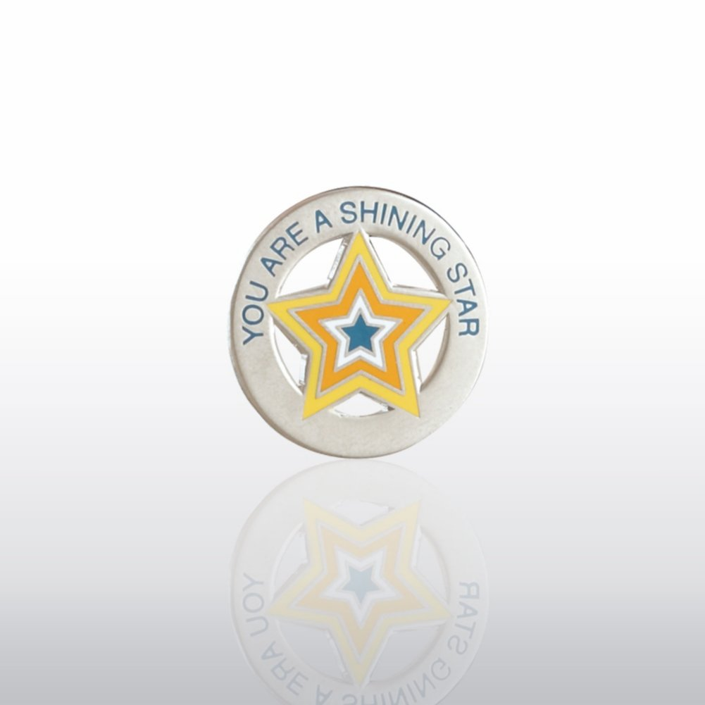 View larger image of Lapel Pin - You're a Shining Star - Round