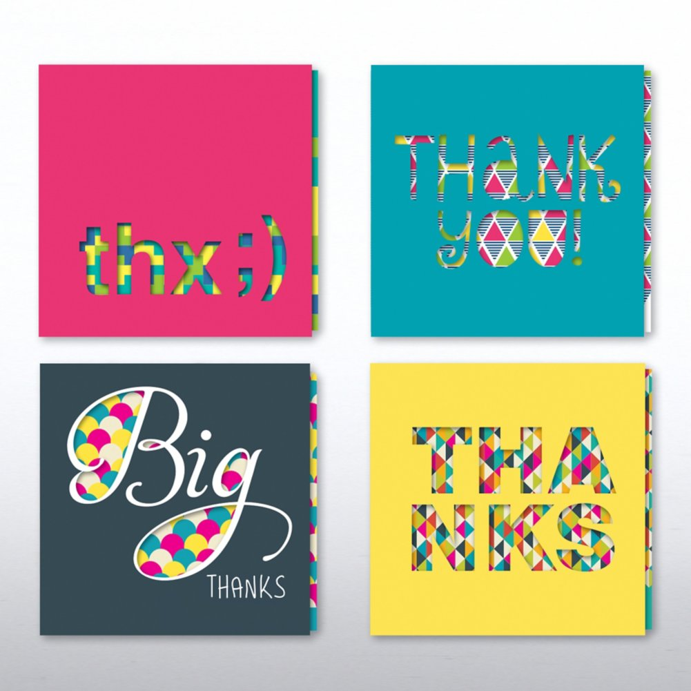 Peek-A-Boo Slider Note Card Set - Thank You Edition