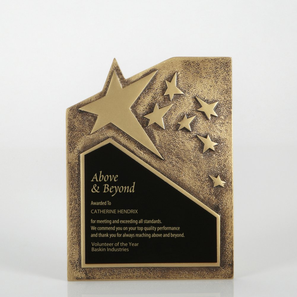 View larger image of Resin Star Plaque - Gold - Large