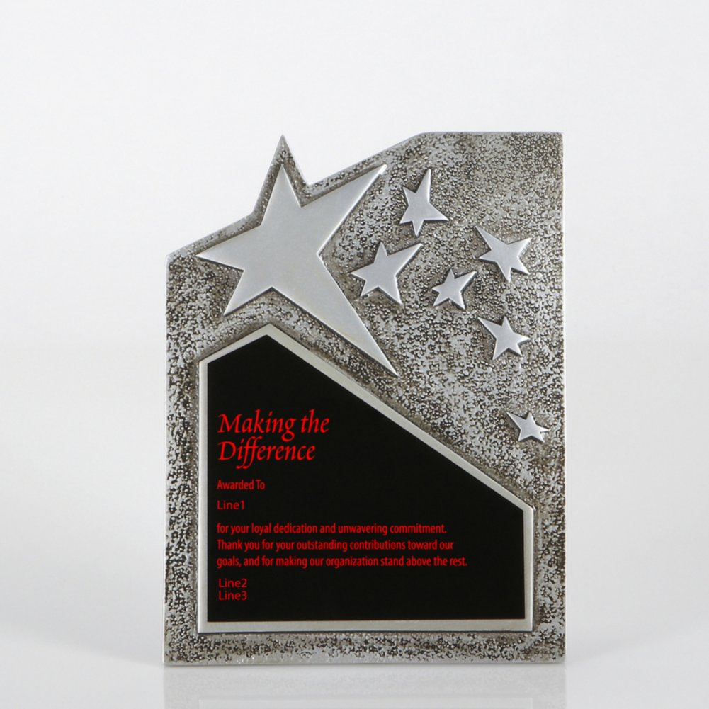 View larger image of Resin Star Plaque - Silver - Large