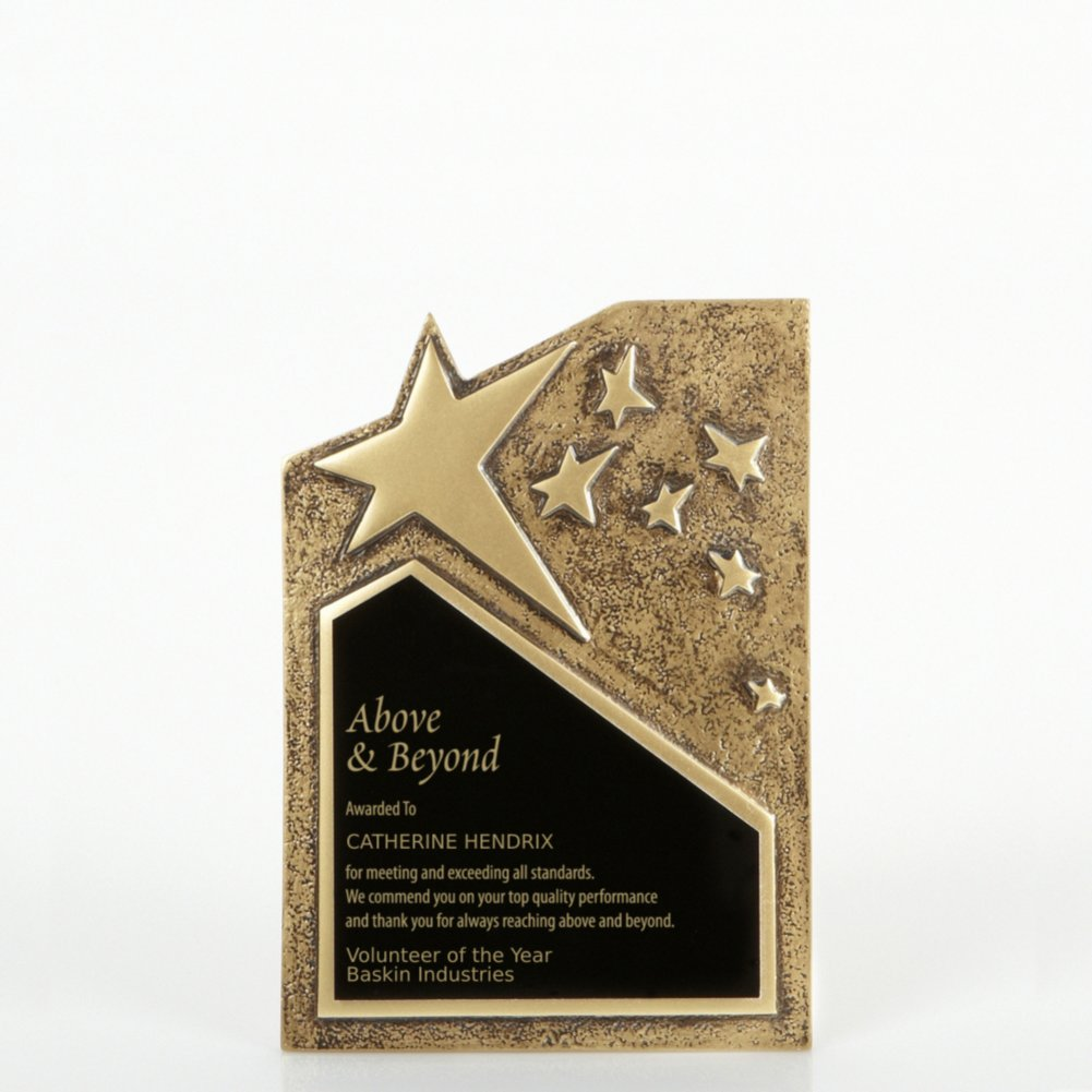 View larger image of Resin Star Plaque - Gold - Small