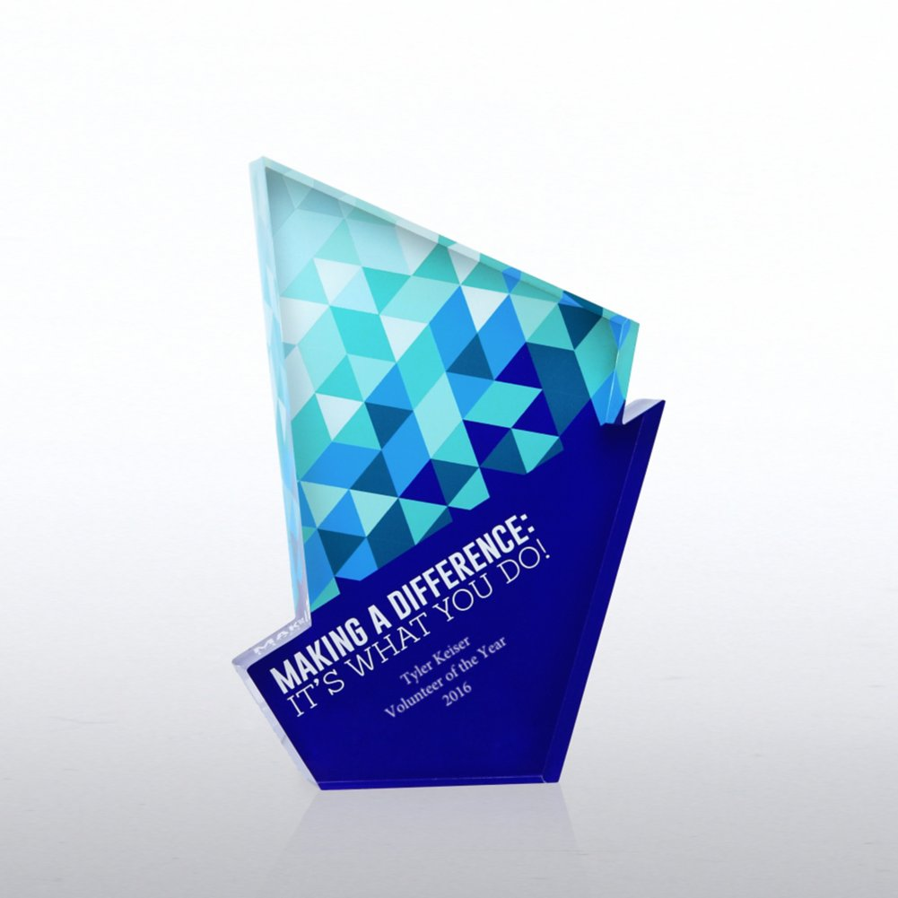 View larger image of Acrylic Brights Trophy Collection - Making a Difference