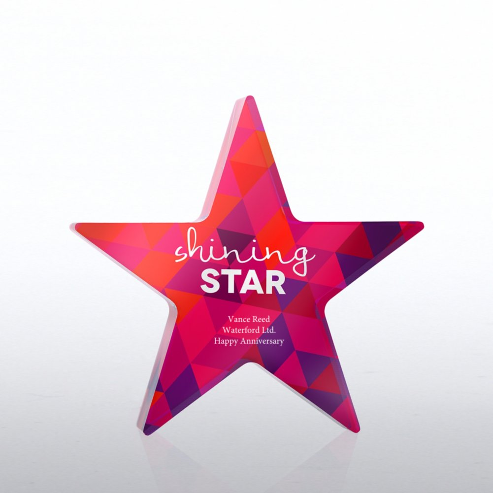 View larger image of Acrylic Brights Trophy Collection - Shining Star