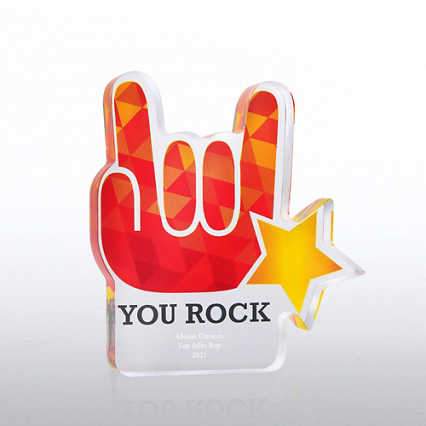 Acrylic Brights Trophy Collection - You Rock