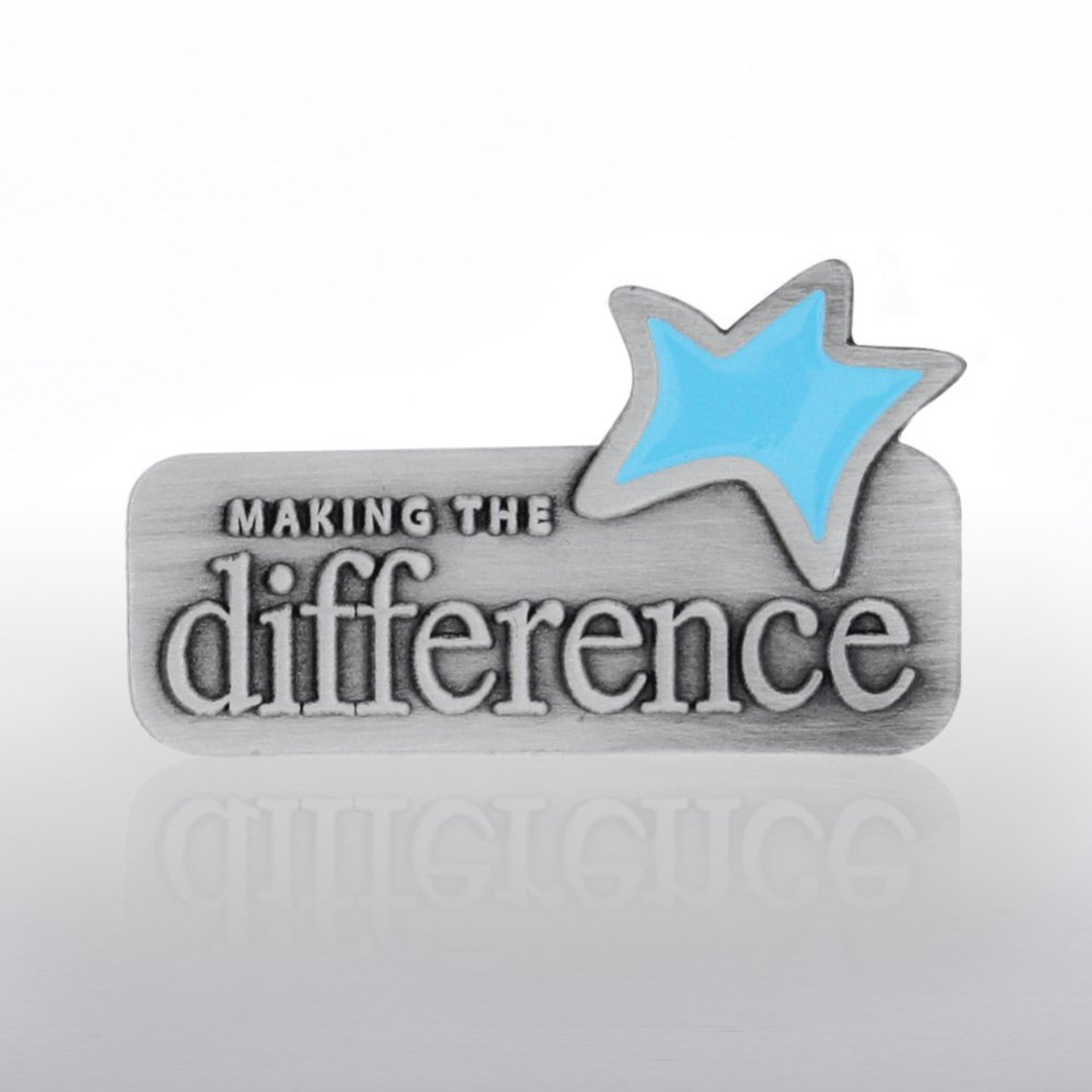 View larger image of Lapel Pin - Making the Difference Blue Star