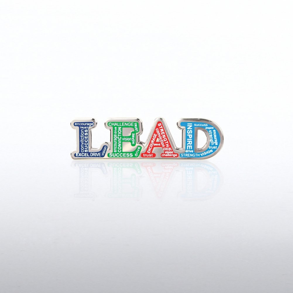 View larger image of Lapel Pin - LEAD Words