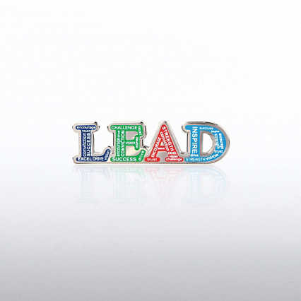 Lapel Pin - LEAD Words
