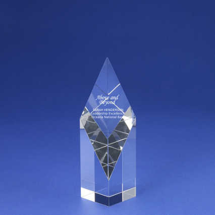 Crystal Sculpture Trophy - Diamond