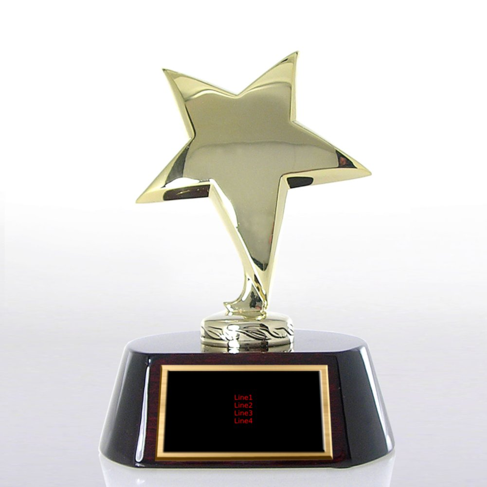 View larger image of Shining Star Trophy - Wood Base with Gold Star
