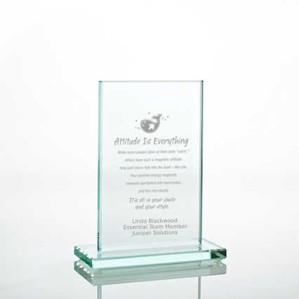 Jade Character Trophy - Rectangle Small