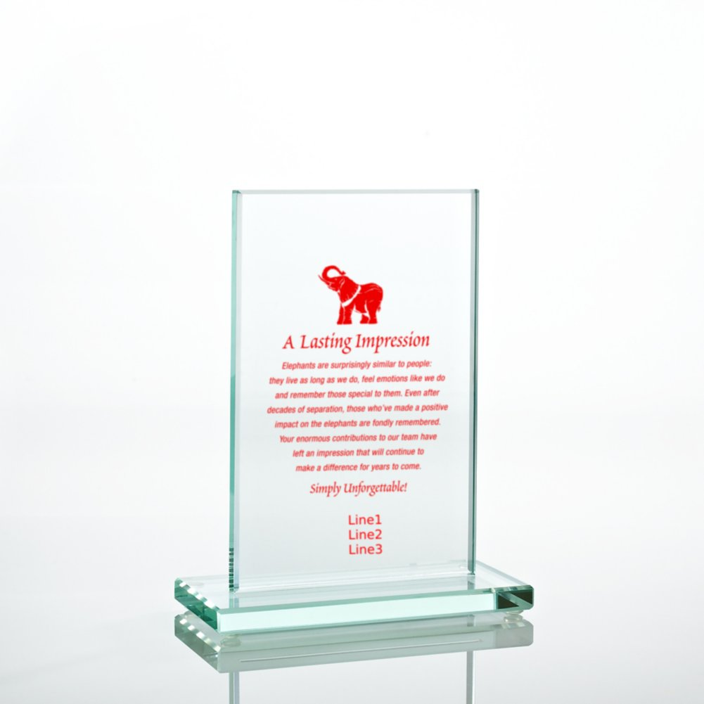 View larger image of Jade Character Trophy - Rectangle Small