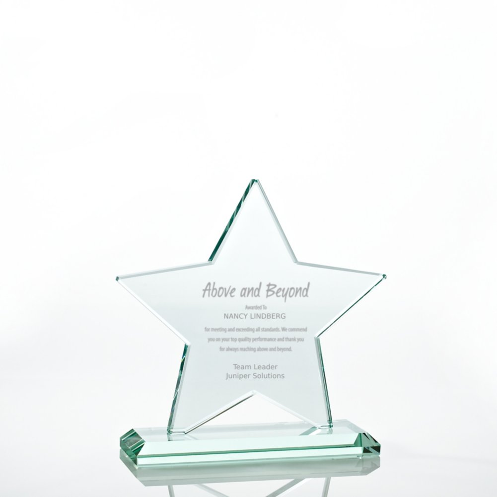 View larger image of Premium Jade Glass Trophy - Star