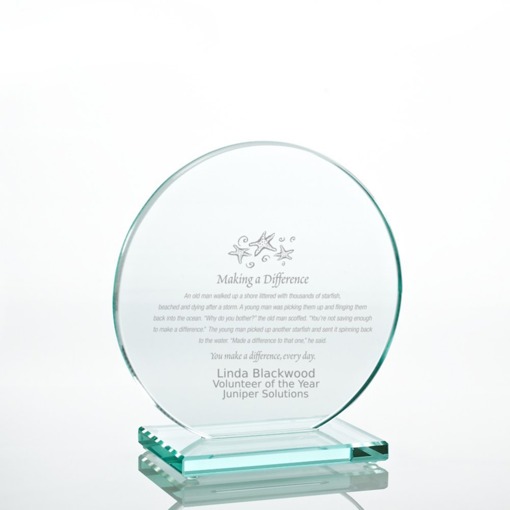 View larger image of Jade Character Trophy - Round