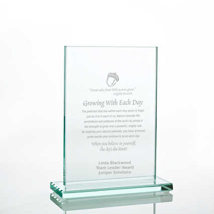 Jade Character Trophy - Rectangle Medium