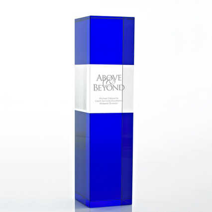 Crystal and Blue Trophy - Block Tower