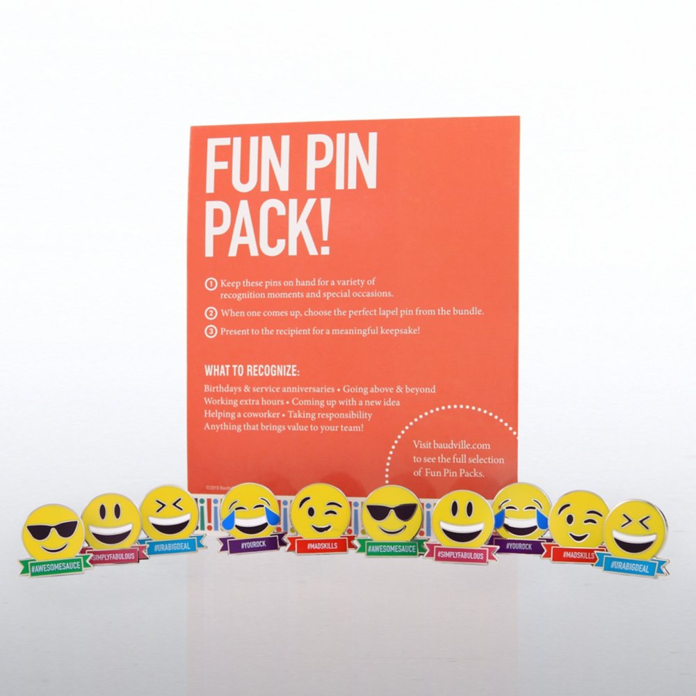 View larger image of Fun Pin Pack - Appreciation Emojis