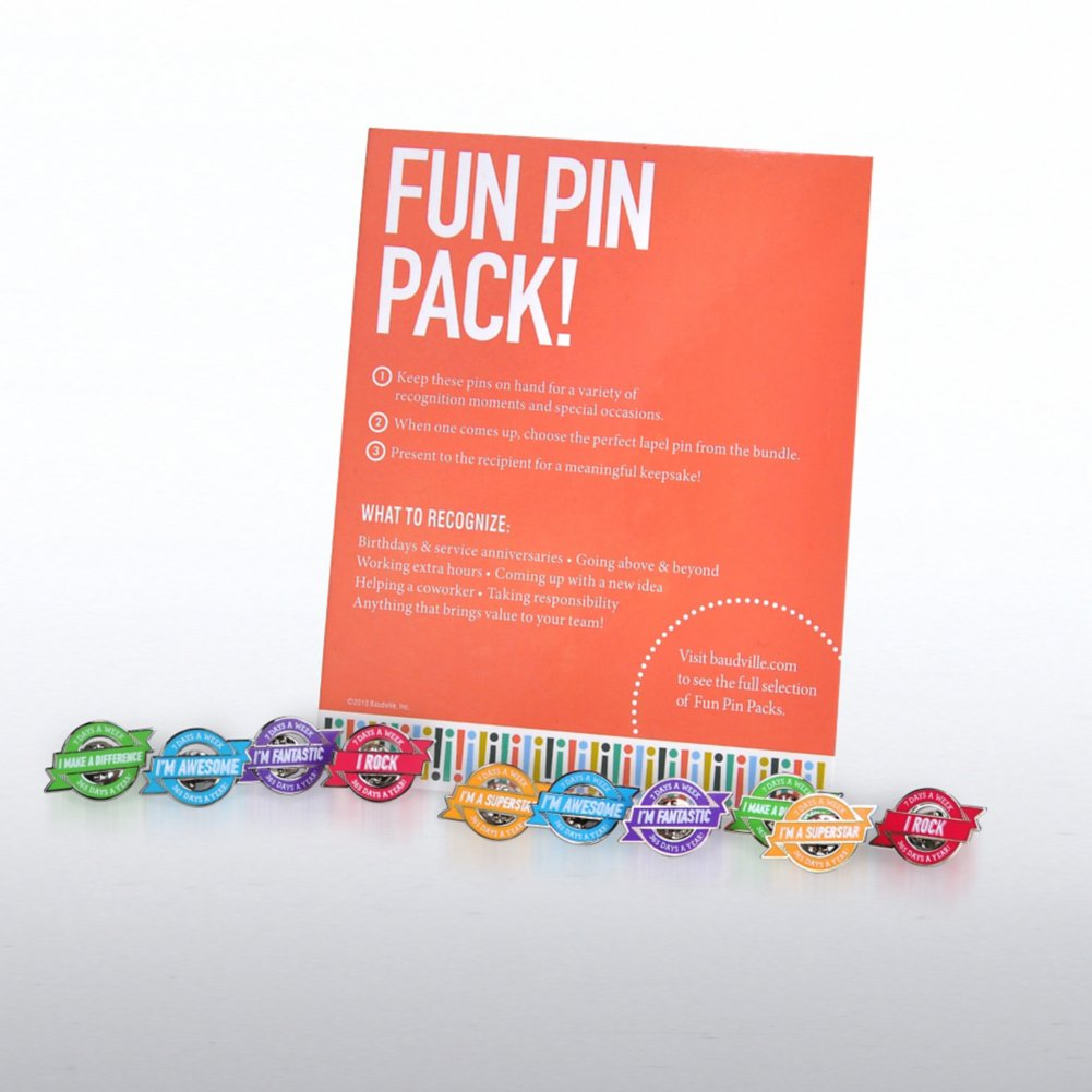 View larger image of Fun Pin Pack - Awesome Badges 365-7