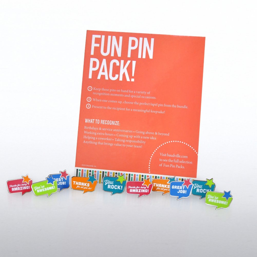 View larger image of Fun Pin Pack - Quote Bubbles
