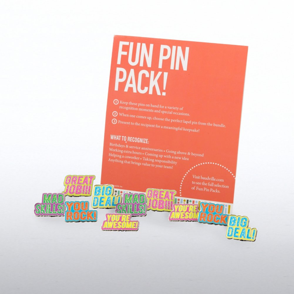 View larger image of Fun Pin Pack - Neon Glitter Praise