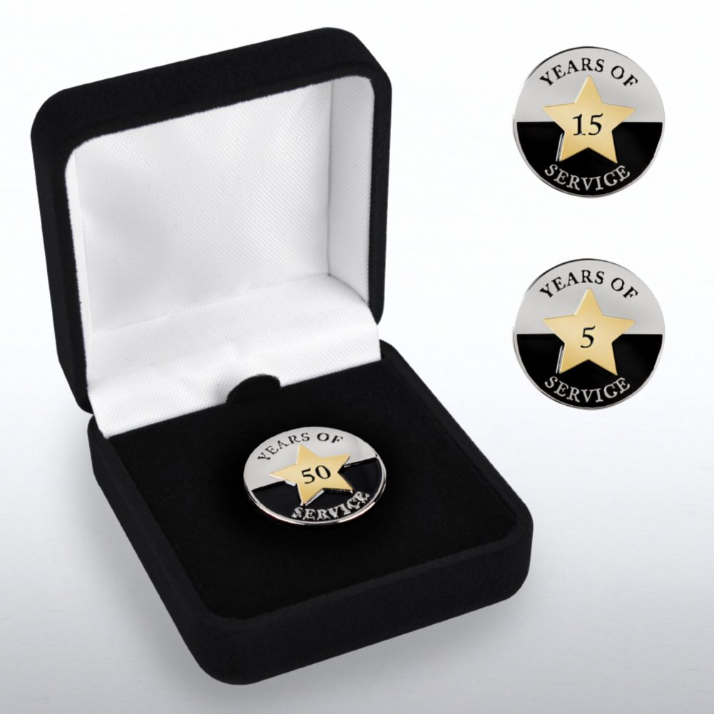 View larger image of Anniversary Lapel Pin - Years of Service Circle Star