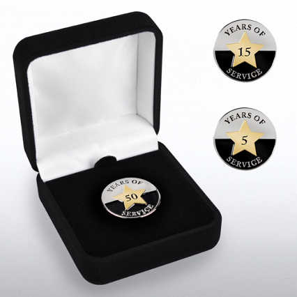 Anniversary Lapel Pin - Years of Service Circle Star