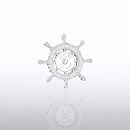 Lapel Pin - Leading The Way Ship's Wheel