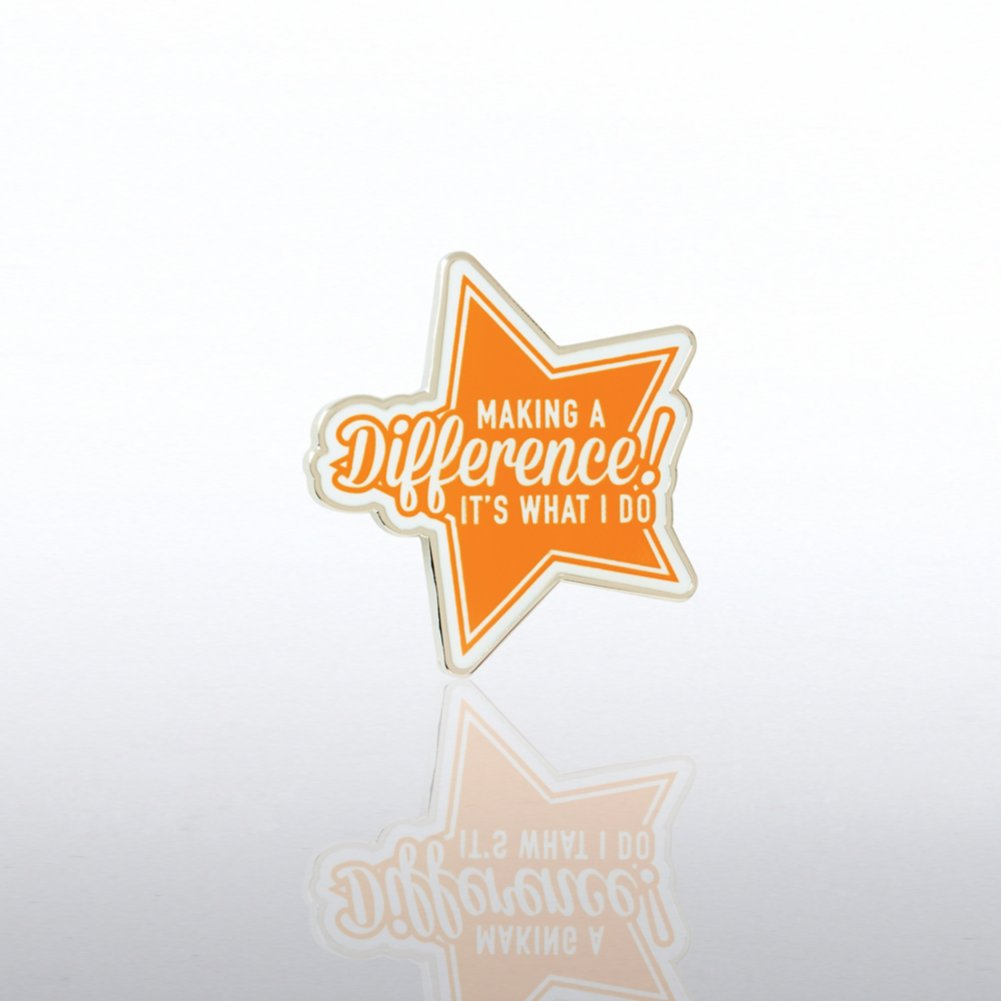 View larger image of Lapel Pin - Making a Difference Orange Star