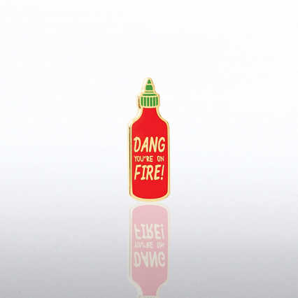 Lapel Pin - Dang You're On Fire!
