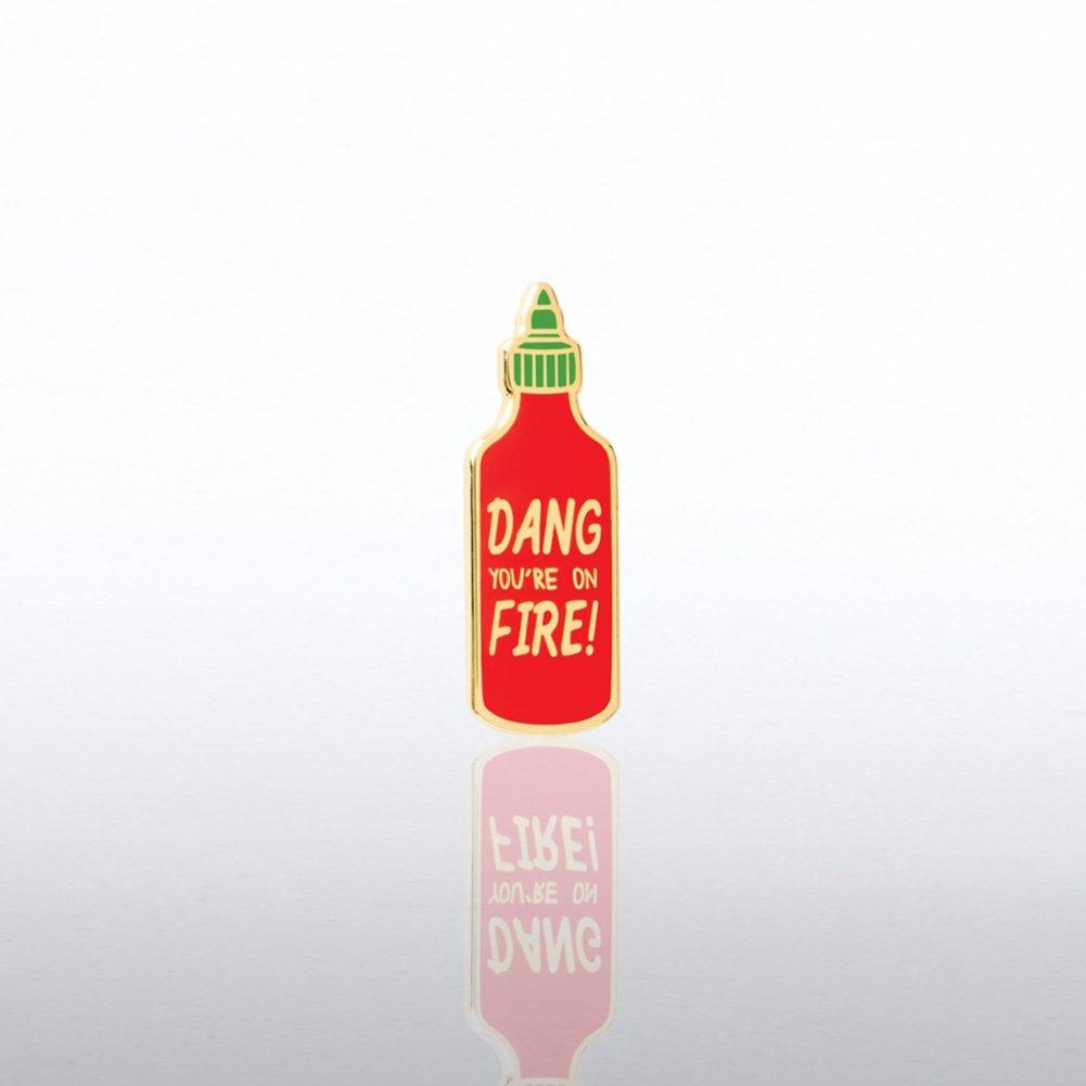 Lapel Pin - Dang You're On Fire!