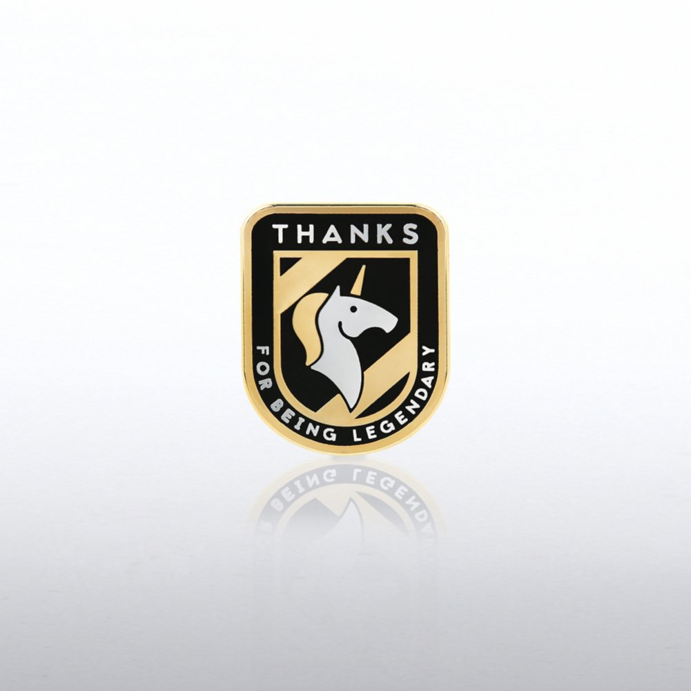 View larger image of Lapel Pin - Thanks for being Legendary - Unicorn