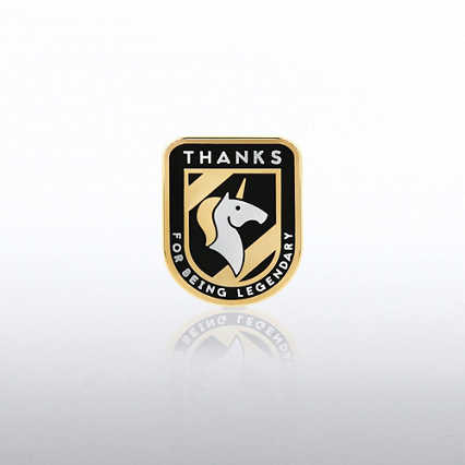Lapel Pin - Thanks for being Legendary - Unicorn