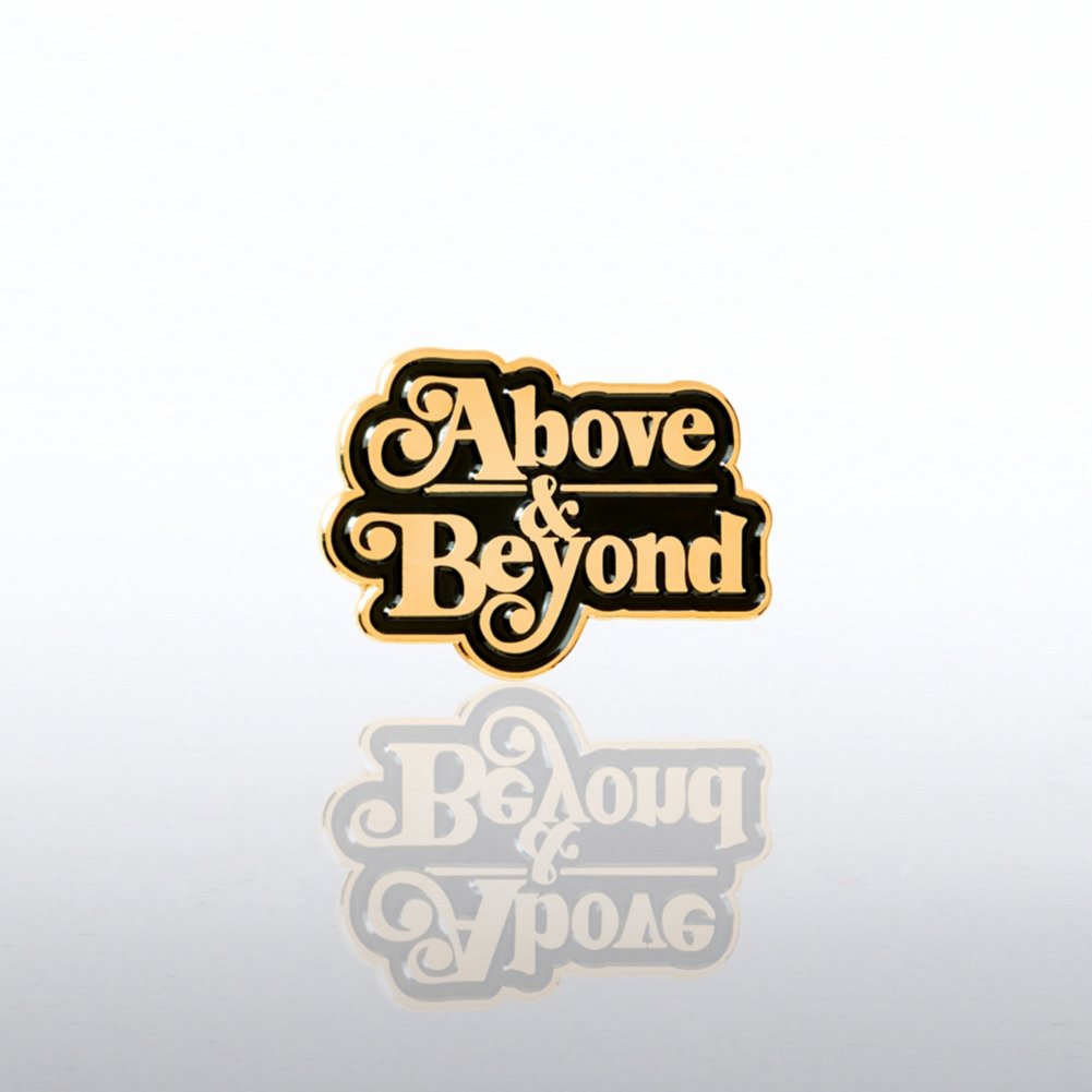 View larger image of Lapel Pin - Above & Beyond Script