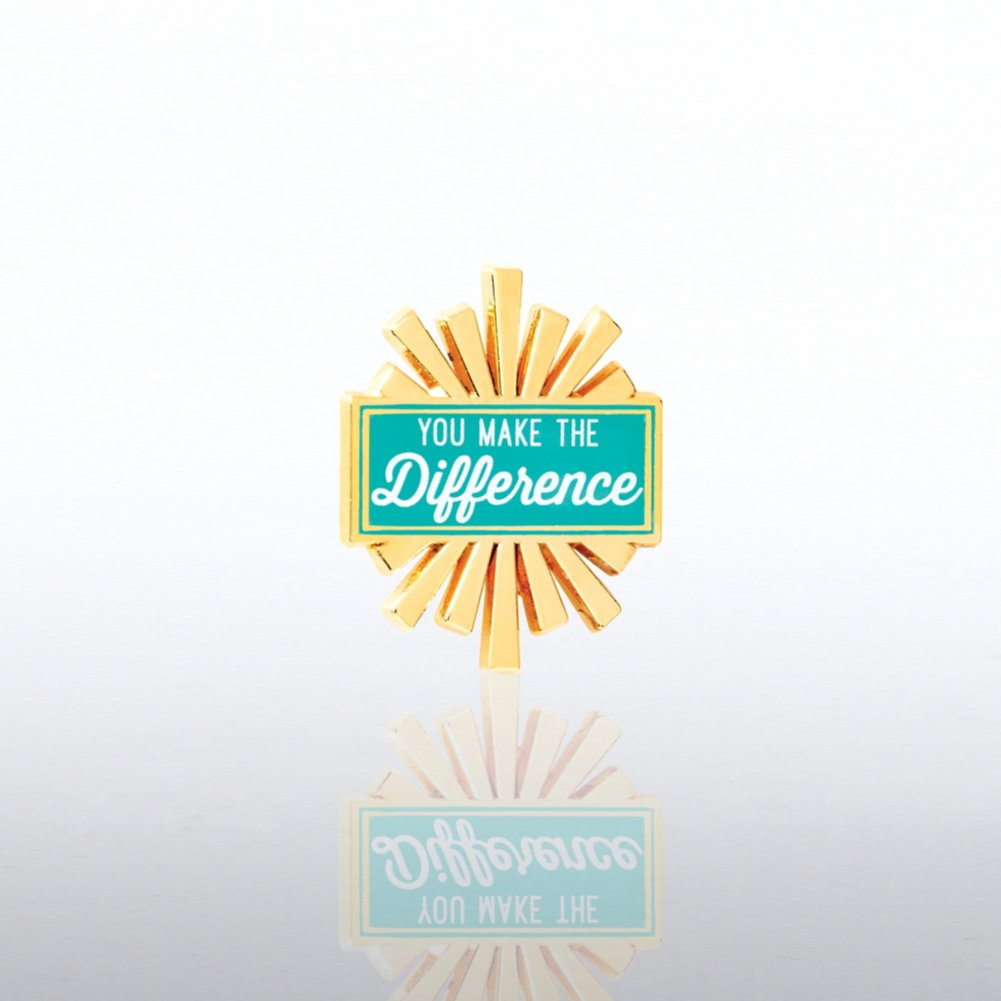 Lapel Pin - You Make the Difference Burst