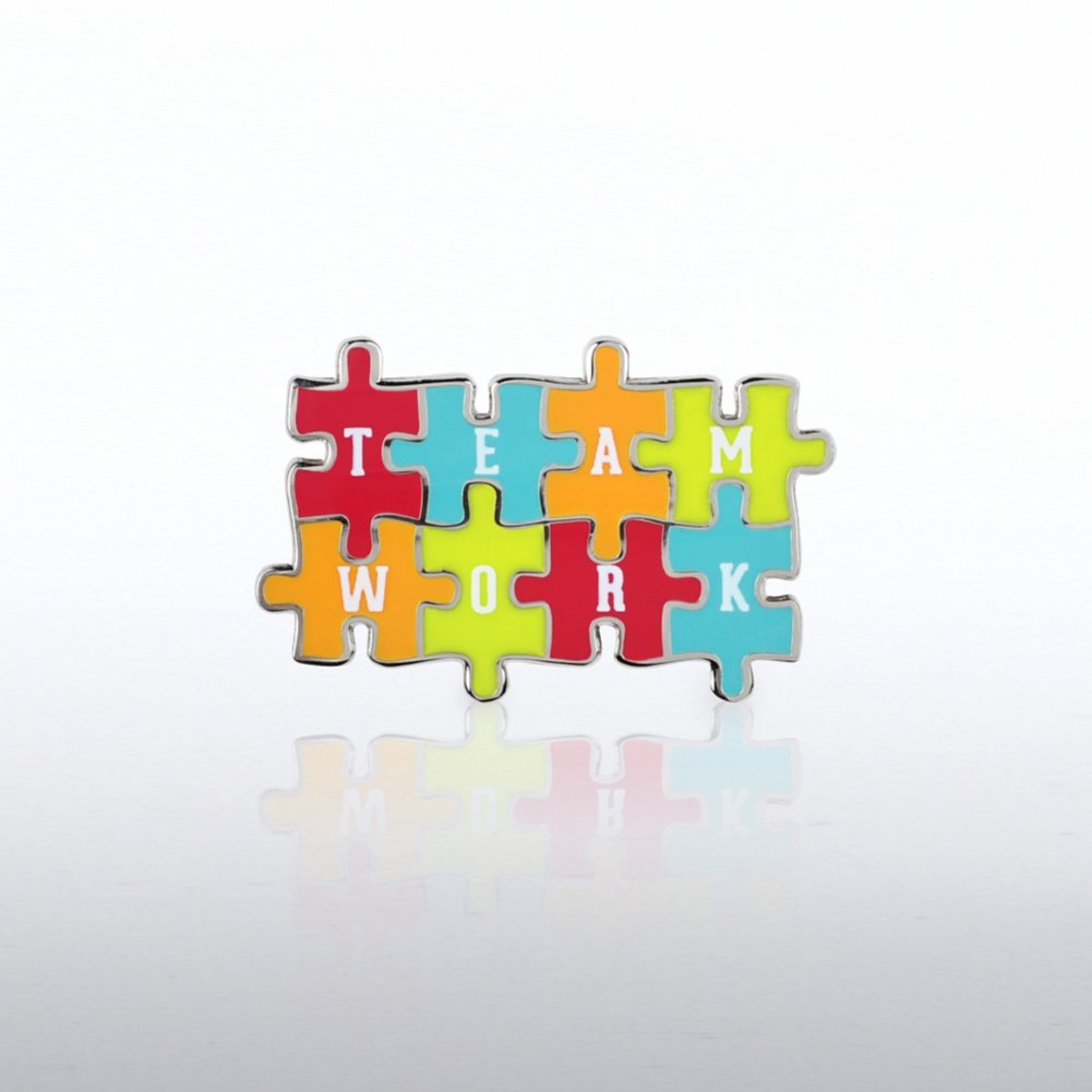 View larger image of Lapel Pin - Teamwork Puzzle