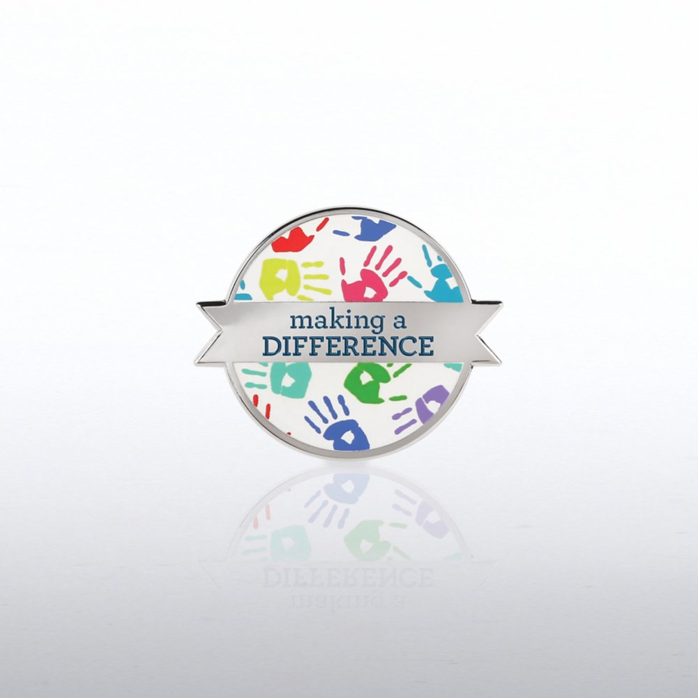 View larger image of Lapel Pin - Making the Difference - Hand Prints