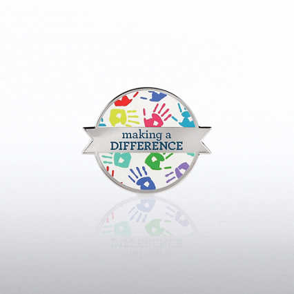 Lapel Pin - Making the Difference - Hand Prints