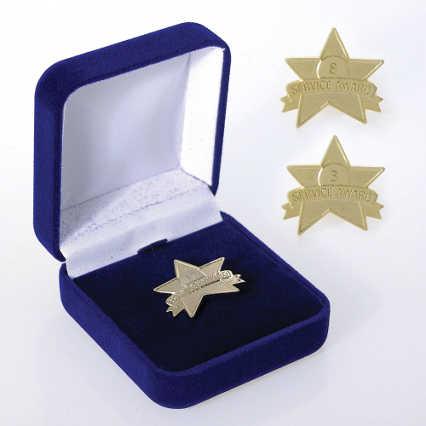 Anniversary Lapel Pin - Service Award Star
