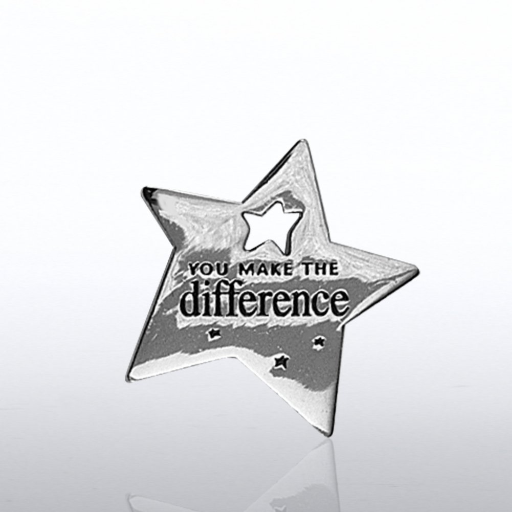 View larger image of Lapel Pin - Milestone - You Make the Difference Star