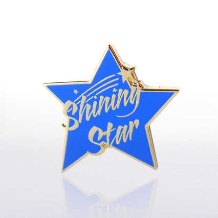 Lapel Pin - Shining Star Blue