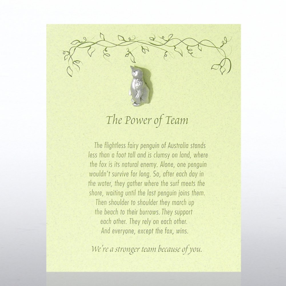 View larger image of Character Pin - Penguin: The Power of Team - Green Card