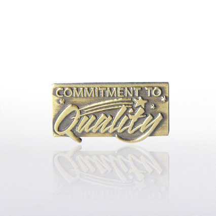 Lapel Pin - Commitment to Quality