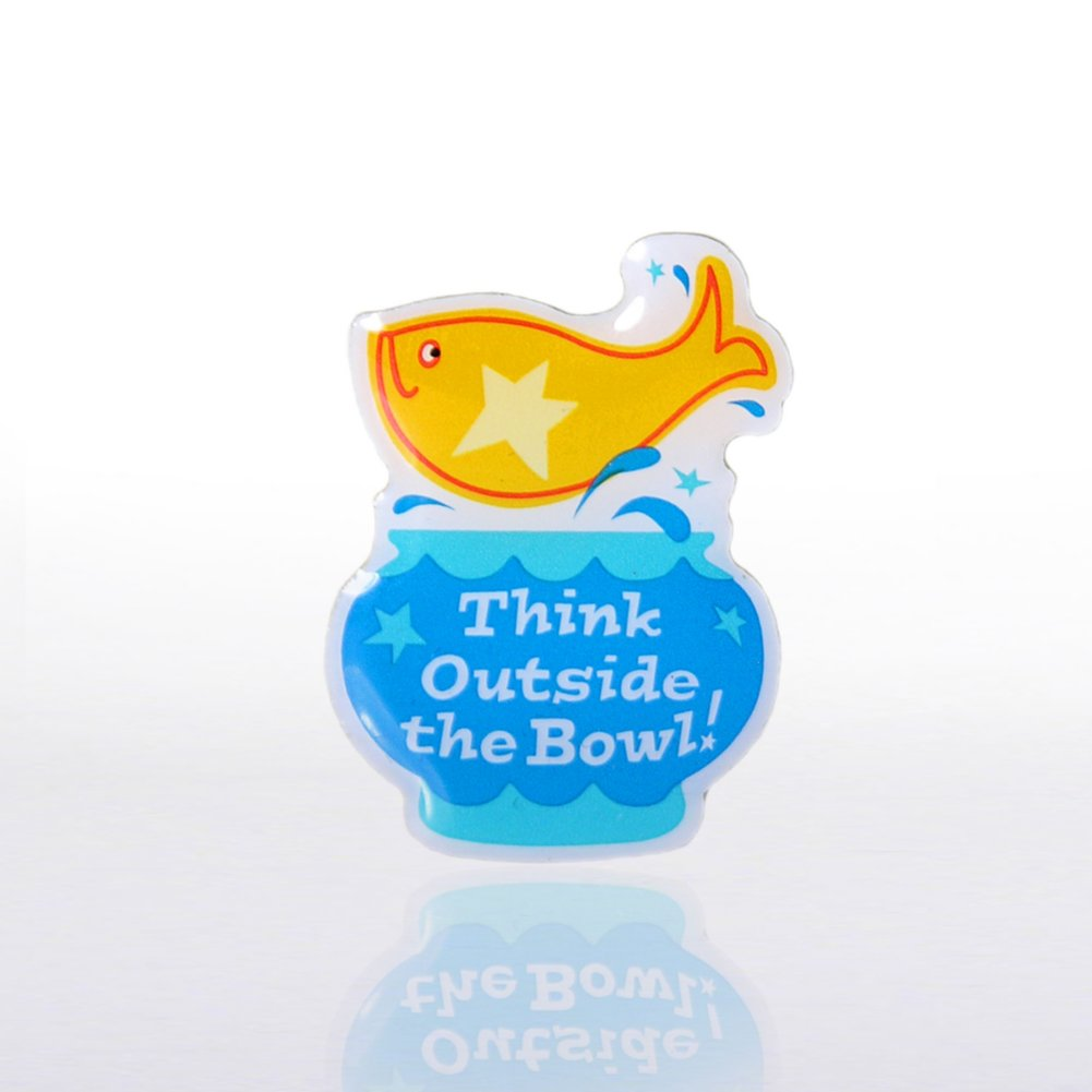 View larger image of Lapel Pin - Think Outside the Bowl! - Multi-Color