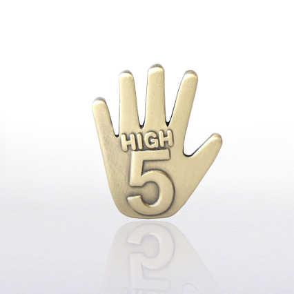 Lapel Pin - High 5 - Gold
