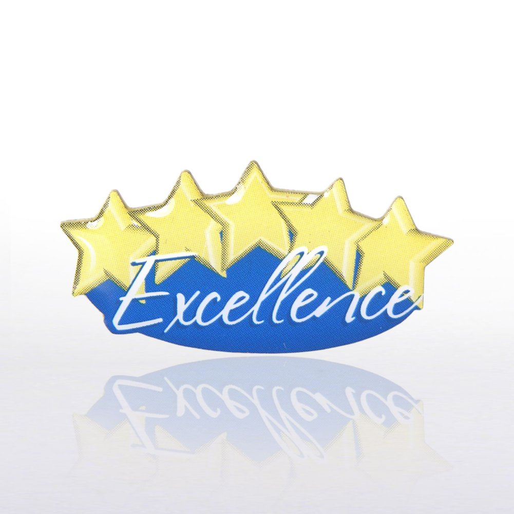 View larger image of Lapel Pin - Five-Star Excellence - Multi Color