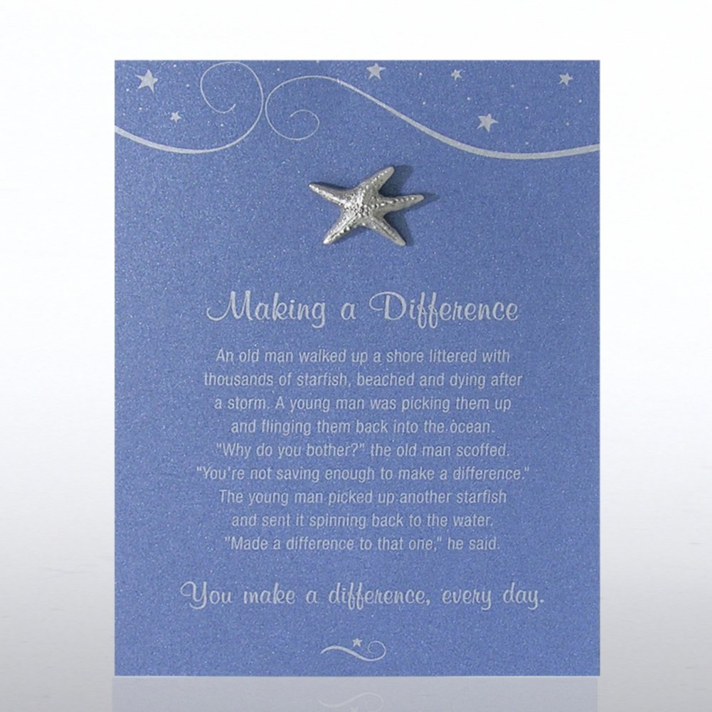 View larger image of Character Pin - Starfish: Making a Difference - Blue Card